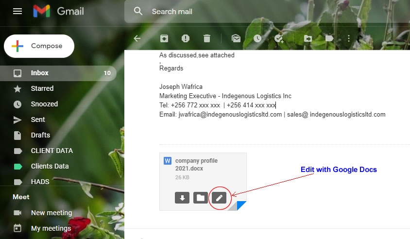Google secretly introduced word files editing  feature in Gmail