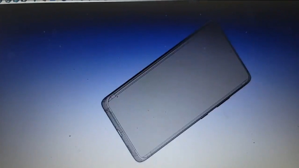 Expected Samsung Galaxy S21 Ultra 5G - narrowest chin mobile phone so far.