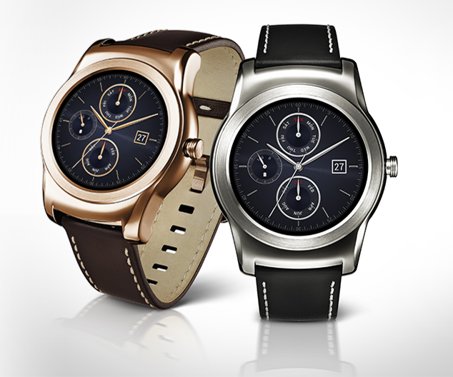 gold and leather Urbane Luxe smartwatch