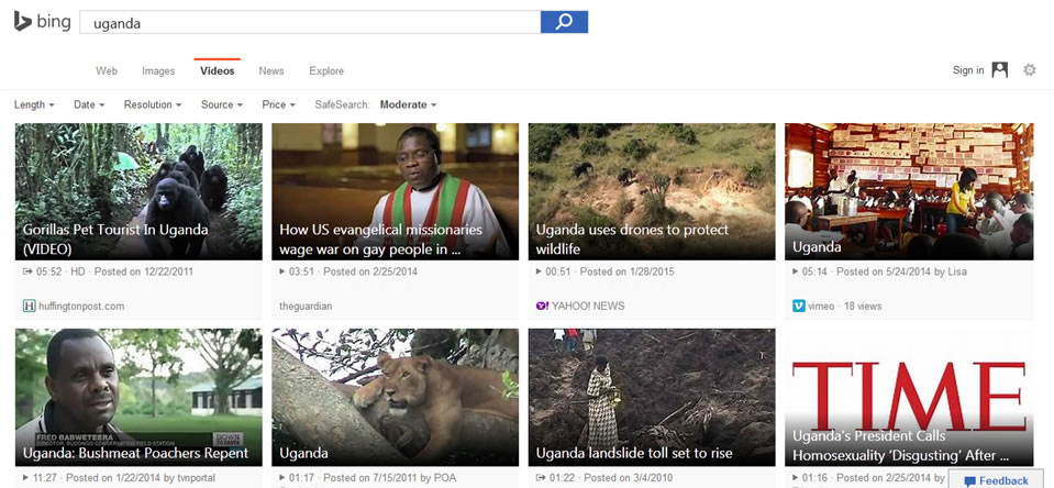 Microsoft improves BING VIDEO Search