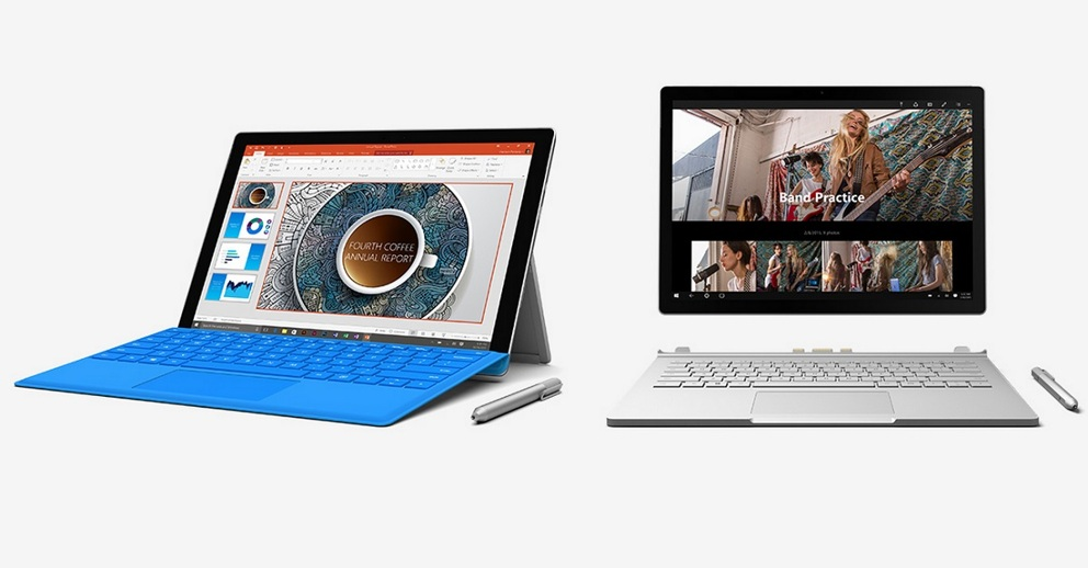 surface pro 4 surface book