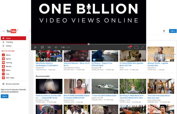 YouTube hits a big milestone; viewers watch a BILLION hours of video a day